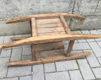 "Antico ""Prete"" in solid poplar wood entirely handmade first ' 900"
