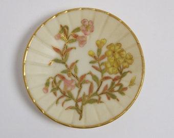 Antique Royal Worcester porcelain pin tray dish circa 1887