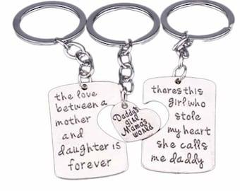 Mommy, Daddy & Me 3 Piece Keychain