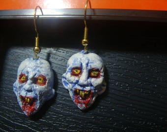 Vampire (Head) Earrings