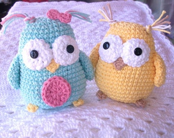 SALE PATTERN Crochet Owl Toy Stuffed Animal Amigurumi