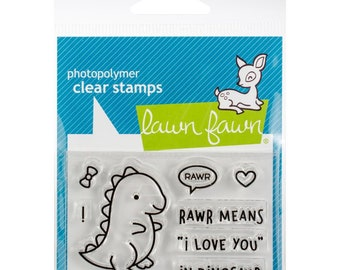 Lawn Fawn Clear Stamps - Rawr