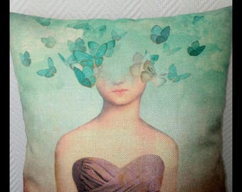 Romantic - The butterfly full head cushion