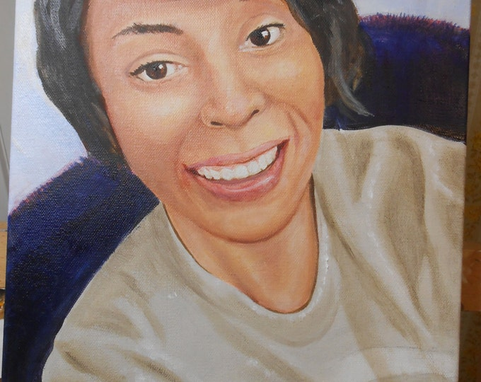 Fine Art Custom Portrait Painting from Photos, Oils on Canvas, People, Children's  Portrait, Teenager, Gift Idea, Fine Art, Hand Painted