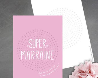 """""""Super godmother"""" card is good to know you're always there for me!"""