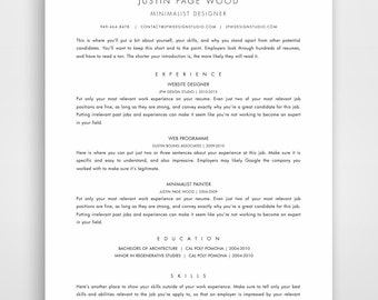 professional resume traditional template