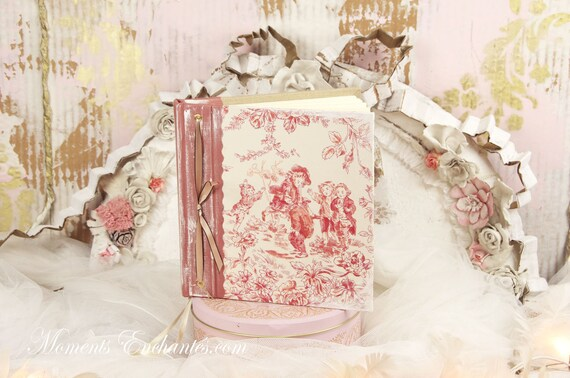 Guest book Note book secret book or guest book toile de Jouy