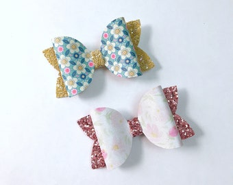 Spring meadow & watercolour floral bows