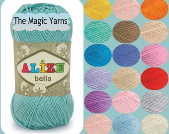 NATURAL Cotton yarn ,4 ply cotton, 100% pure cotton,  natural YARN cotton without mercerization, cream, camel, blue, indigo, mint, teal