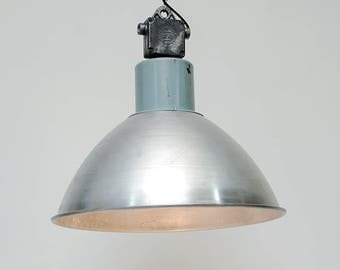 "Pendant industrial  lamp , in metal :""Sonar""."