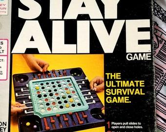 Vintage Milton Bradley Stay Alive Board Game