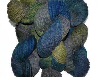 Hand dyed yarn - Columbia Wool yarn, Worsted weight, 170 yards - Grimnir