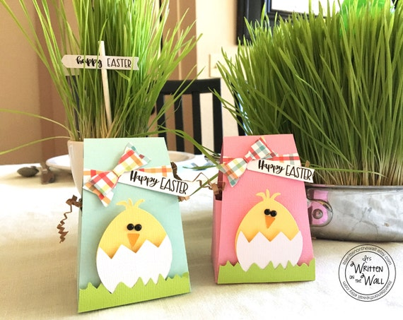 Kit easter chick treat box wraps kids easter basket like this item negle Gallery