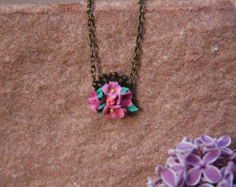Vintage Lilac Necklace