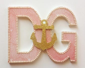 D and G Initial Letters and Golden Anchor