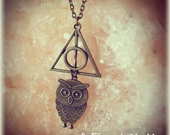 Necklace Harry Potter Deathly Hallows Hedwig