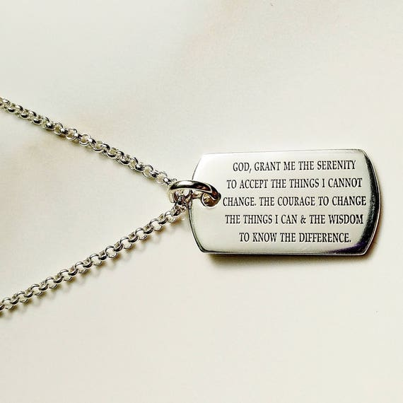 Serenity prayer necklace god grant me the serenity gift of aloadofball Images
