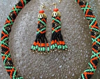 Ukrainian Ethnic jewelry.Handmade beaded jewelry. Ukrainian. Karpaty. Ukrainian jewelry. Ukraine.