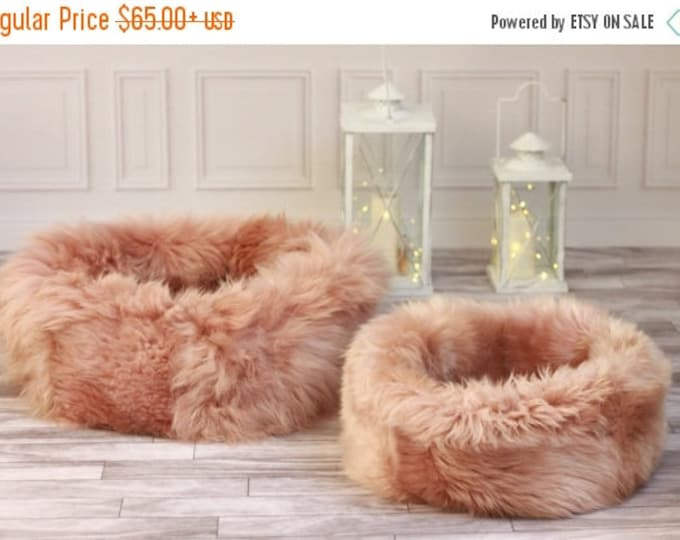 Sheepskin Cat bed | Cat cave | pet bed | Dog Bed | Pink Cat bed | pet furniture | Pink dog bed | Genuine Real Sheepskin |