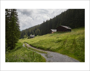 Swiss Alps - Mountain Huts - Alpine Meadows - Switzerland - Color Photo Print - Fine Art Photography (SW10)