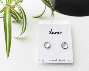 silver post earrings everyday studs simple studs eco friendly gift idea for her hypoallergenic studs recycled studs minimalist jewelry