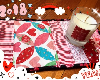 Valentine's day table topper, Table runner,Toilet Topper, Table Deco.