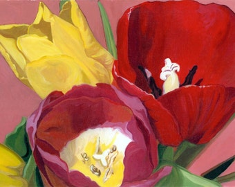 Springtime Tulips Painted Photography
