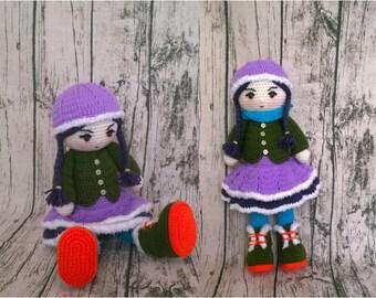 PDF Ana doll amigurumi pattern #0118- crochet amigurumi pattern- Crochet doll