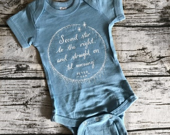 """Peter Pan Inspired Baby Bodysuit 
