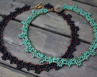 TUTORIAL - Amanda, beaded necklace with Super Duo beads
