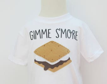 Gimme S'more Summer Camping Outifit/Baby Bodysuit Toddler Shirt
