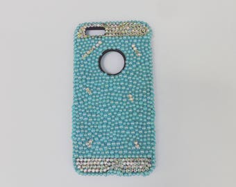 Bling Iphone 6/6s Case- Phone Cases-Bling-Custom made phone cases-Ab Rhinestones-Ab Flatback Pearls- Summer Case-Pretty-Phone Candy