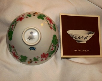 1982 The Mallow Bowl, Miniature Porcelain Bowl, Treasures of the Chinese Dynasties, Lip indented, Mallow Pedals, Kuei-Pan-K' ou wan