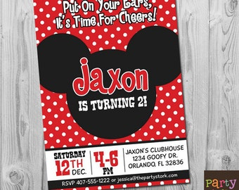 Mickey mouse birthday one 1 mickey mouse birthday mickey mickey mouse 2nd birthday invitation printable mickey clubhouse party invitations boy girl first second third filmwisefo