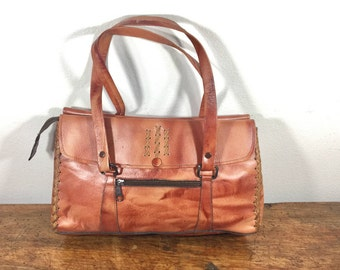 Lost KaJane, 1970s, Brown Leather Purse, Bag, Shoulder Bag