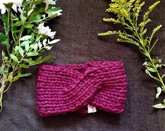 Headband - Raspberry criss-cross headband