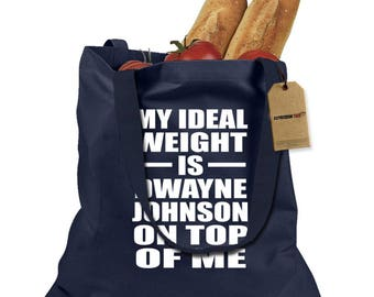 Dwayne Johnson On Top Of Me Shopping Tote Bag