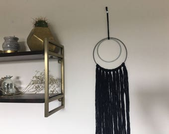 Black Macrame Wall Decor