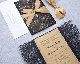 Laser Cut Wedding Invitations | Wedding Invite | Custom Laser Invitations | Wedding Invitation | Detailed Wedding Invites | Elegant Wedding
