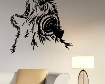 Lion Wall Sticker Vinyl Decal Animal Art Decorations for Home Housewares Living Room Bedroom Music Studio Office Decor ln11