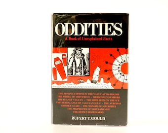 """Vintage """"Oddities, A Book of Unexplained Facts"""", Third Edition (c.1964) - Collectible, Oddity, Altered Art"""