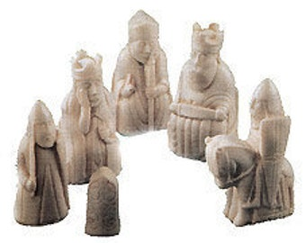 9 x Supercast Lewis 1 Chess set rubber latex moulds/molds