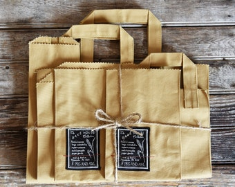 Reusable Canvas Bags, Bake House 7 bags, Cotton Tote, Market Bag, Zero Waste Zero Dechet, Gift for Wife, Birthday Gift, Mothers Day
