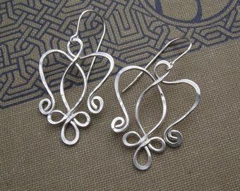 Celtic Angel Heart Earrings, Celtic Jewelry, Celtic Knot Earrings, Angel Earrings, Celtic Earrings Gift for Her, Wife, Angel Jewelry, Women