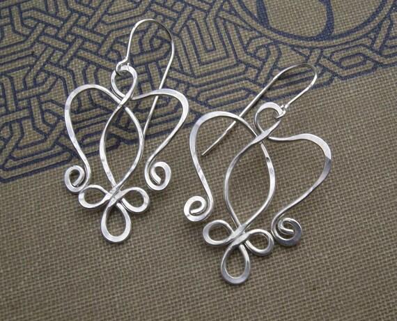 Keltische Engel Herz Ohrringe keltischen Schmuck Keltischer
