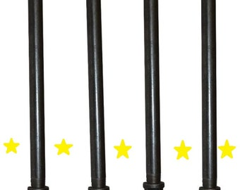 "Industrial Black Iron Pipe Table Legs , INCLUDES 4 Complete Table Legs 3/4"" Diameter 6"", 7"", 8"", 9"",10"", 12"", 18"", 24"",30"" & 36""  ""DIY"""
