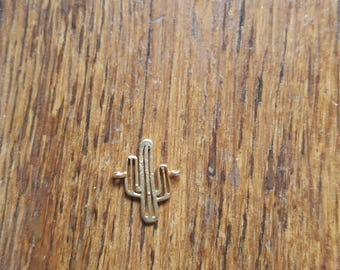 The 15 x 13 Gold cactus charm