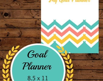 Goal Planning and Tracking Worksheet Printable - 8.5x11 Digital Files
