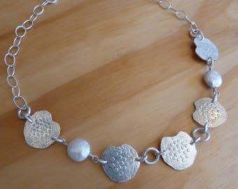 Silver & Fresh Water Pearl Necklace