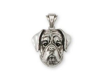 Boxer Pendant Jewelry Sterling Silver Handmade Dog Pendant BX9-P